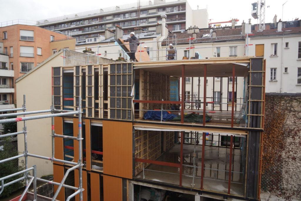 Travaux de construction d'un loft en bois à Paris