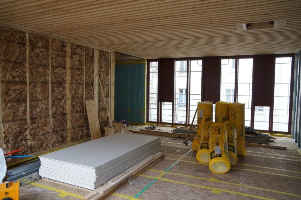 Matériaux construction loft en bois