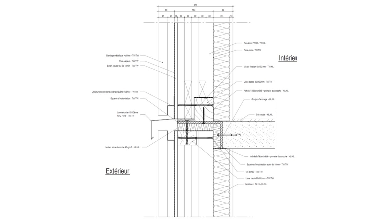 façade plancher