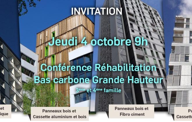 Conférence Réhabilitation bas carbone grande hauteur